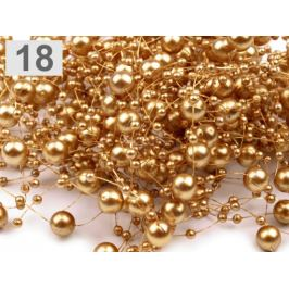 Perly na silóne Ø7mm délka 130cm zlatá 4ks Stoklasa