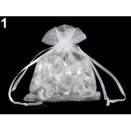 Darčekové vrecúško 9x11 cm organza biela 20ks Stoklasa