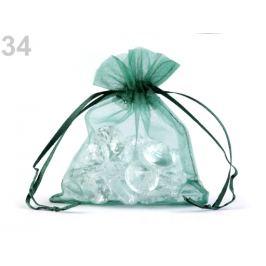 Darčekové vrecúško 9x11 cm organza zelená irská 20ks Stoklasa