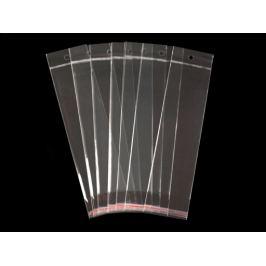 Celofánové sáčiky s lepiacou lištou a závesom 7x22 cm Transparent 100ks Stoklasa