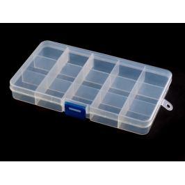 Plastový box / zásobník  10x17x2,2 cm Transparent 1ks Stoklasa