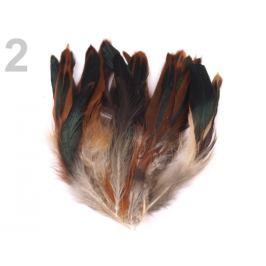 Slepačie perie dĺžka  6-15 cm hnědo-bežová 20ks Stoklasa