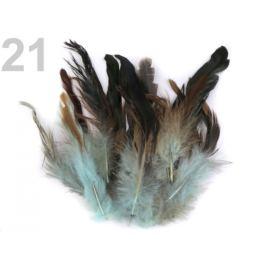 Slepačie perie dĺžka  6-15 cm mint 20ks Stoklasa