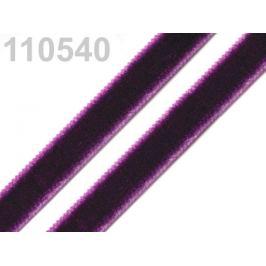 Stuha zamatová šírka 9 mm fialová tm. 5m
