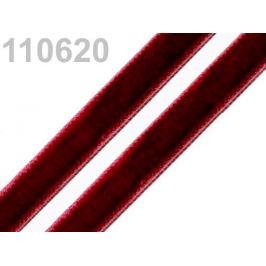 Stuha zamatová šírka 9 mm červená karmínová 5m