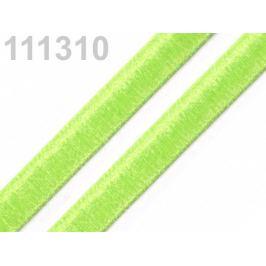 Stuha zamatová šírka 9 mm jablko zelené 5m