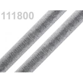 Stuha zamatová šírka 9 mm šedá 5m