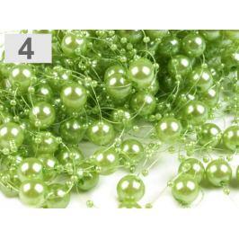 Perly na silóne Ø12 mm dĺžka 130 cm zelená sv. 4ks Stoklasa