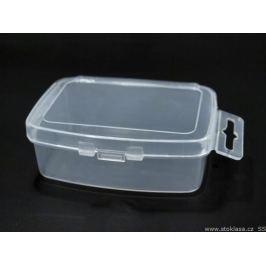 Plastový box / zásobník 3,5x5x2 cm s eurozávesom Transparent 3ks Stoklasa