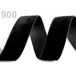 Stuha zamatová šírka 25 mm čierna 5m