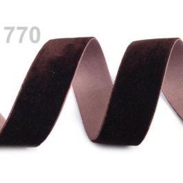Stuha zamatová šírka 25 mm hnedá 5m