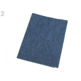 Nažehľovacie záplaty riflové 20x43 cm modrá tm. 1ks