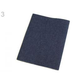 Nažehľovacie záplaty riflové 20x43 cm modrá tmavá 1ks