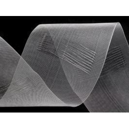 Záclonová lemovka transparentná šírka 80mm s pútkami na navlečenie na tyč;tuškové riasenie Transparent 50m