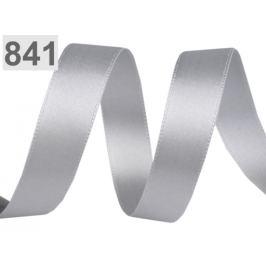Allasová stuha obojlíca šírka 15 mm strieborná 20m