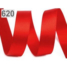 Atlasová stuha obojlíca šírka 24mm červená 20m
