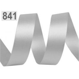 Atlasová stuha obojlíca šírka 24mm strieborná 20m