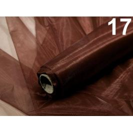 Organza šírka 36-37 cm malý lesk hnedá kávová 1ks