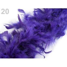 Bohaté boa - morčacie perie 60 g dĺžka 1,8m fialková 1ks Stoklasa