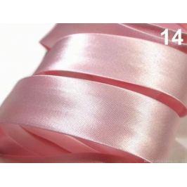 Šikmý prúžok saténový 20mm zažehlený rozmeraný Impatiens Pink 20m