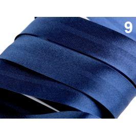 Šikmý prúžok saténový 20mm zažehlený rozmeraný Estate Blue 20m