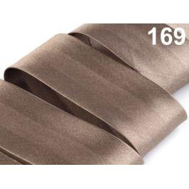 Šikmý prúžok saténový šírka 30mm zažehlený rozmeraný Dune 20m