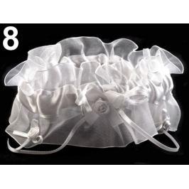 Svadobný podväzok dvojitý šírka v rozmedzí od 7-8 cm biela 1ks Stoklasa