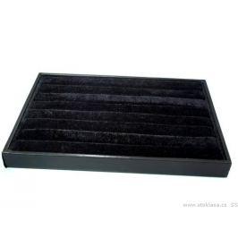 Zamatové plato 24x35 cm čierna 1ks Stoklasa
