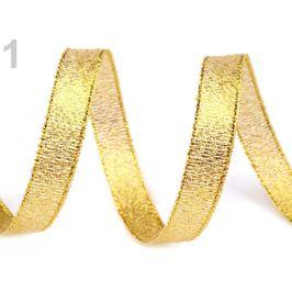 Brokátová stuha šírka 10 mm s lurexom zlatá 22.5m Stoklasa