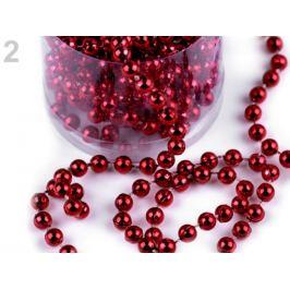 Perlová vianočná reťaz Ø6mm červená  1ks Stoklasa