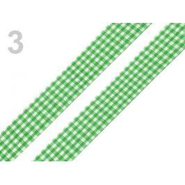 Károvaná stuha  rezaná šírka 18 mm zelená irská 45m Stoklasa