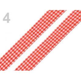 Károvaná stuha  rezaná šírka 18 mm 148 červená 45m Stoklasa