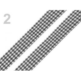 Károvaná stuha  rezaná šírka 18 mm čierna 45m Stoklasa