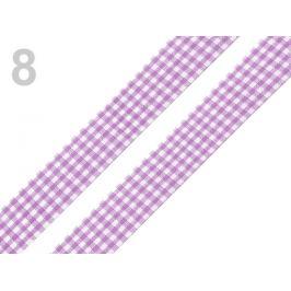 Károvaná stuha  rezaná šírka 18 mm fialová lila 45m Stoklasa
