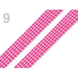 Károvaná stuha  rezaná šírka 18 mm pink 45m Stoklasa