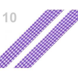 Károvaná stuha  rezaná šírka 18 mm fialová 45m Stoklasa