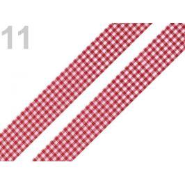 Károvaná stuha  rezaná šírka 18 mm bordó 45m Stoklasa