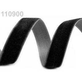 Stuha zamatová šírka 16 mm čierna 5m