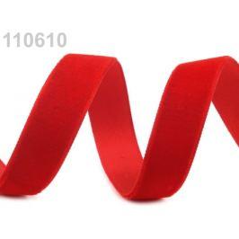 Stuha zamatová šírka 16 mm červená 5m