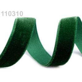 Stuha zamatová šírka 16 mm zelenomodrá 5m
