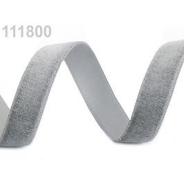 Stuha zamatová šírka 16 mm šedá 5m