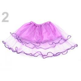 Karnevalová sukienka - detská obojstranná fialová lila 1ks Stoklasa