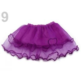 Karnevalová sukienka - detská obojstranná fialová gebera 1ks Stoklasa