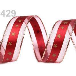 Vianočná stuha s lurexom šírka 25 mm High Risk Red 20m