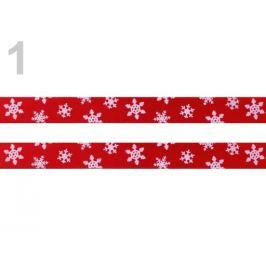 Stuha šírka 10 mm vločky červená 20m Stoklasa