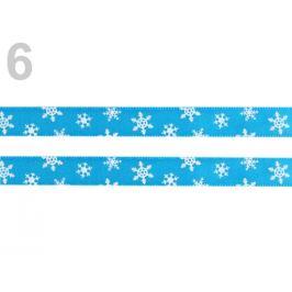 Stuha šírka 10 mm vločky modrá azurová 20m Stoklasa