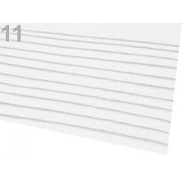 Látková dekoratívna plsť / filc 20x30 cm biela 2ks Stoklasa