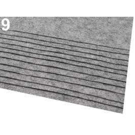 Látková dekoratívna plsť / filc 20x30 cm šedá 2ks Stoklasa