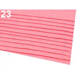 Látková dekoratívna plsť / filc 20x30 cm ružová str. 2ks Stoklasa