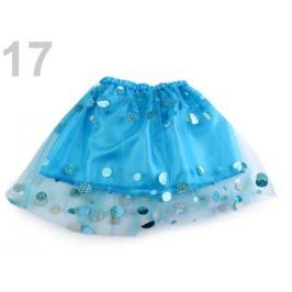 Karnevalová sukienka detská s flitrami tyrkys sv. 1ks Stoklasa